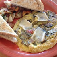 Roasted Veggie Frittata with Brie