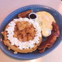 Belgian Waffle Caramelized Apple Full House