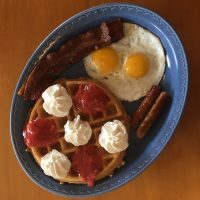 Belgian Waffle with Strawberry Compote Full House