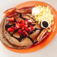 Chocolate Strawberry Pancakes Full House