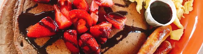 Chocolate Strawberry Pancakes