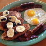 Brazilian French Toast with Blueberries and Bananas